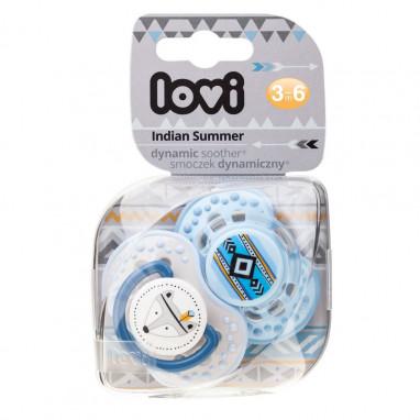 Pack chupetes dinámicos silicona LOVI Indian Summer Niño 3-6 meses