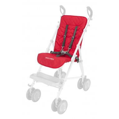 Colchoneta para silla major elite MACLAREN rojo