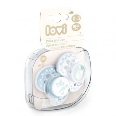 Pack chupetes dinámicos silicona LOVI Pride & Joy Niño 3-6 meses