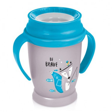 Taza antigoteo 360º LOVI Indian summer Junior con asas 250 ml