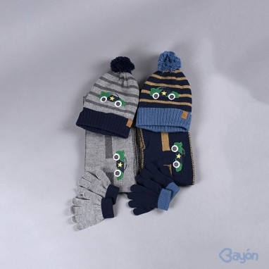Conjunto coche gorro bufanda y guantes BAYON
