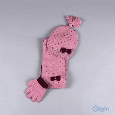 Conjunto gorro bufanda y guantes numeros BAYON