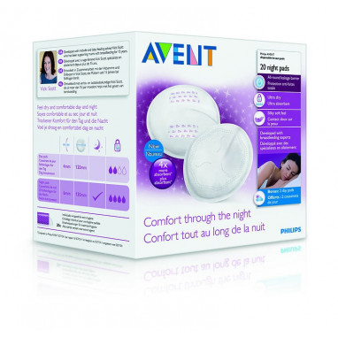 Discos absorbentes 20 unidades philips avent noche