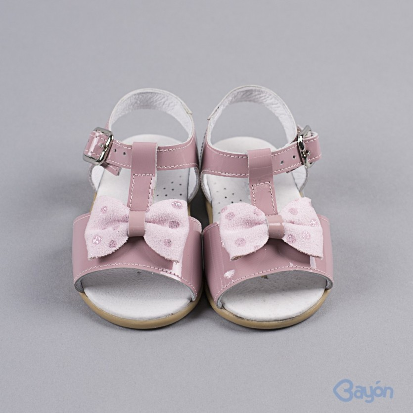 Sandalia bebé charol BAYON