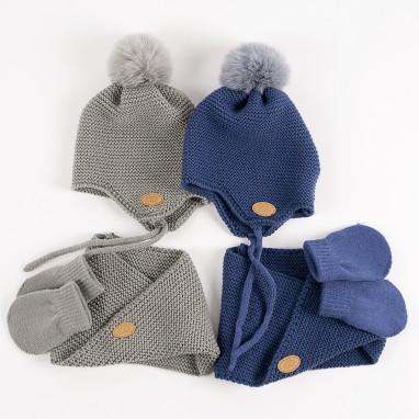 9fafbde4c Conjunto bebé gorro bufanda y guantes BAYON